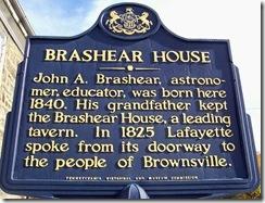 Brashear House Marker Brownsville, PA
