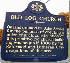 Old Log Church Marker, Bedford Co., PA