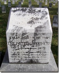 Front of Grave Stone for Col. George S. Patton
