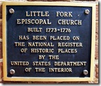 Little Fork Church Historic Places Plaque
