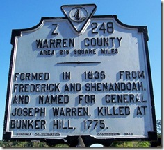 Warren County VA Marker Z-248 (Click any photo to Enlarge)