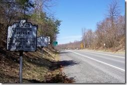 Warren Co. Marker Z-173 along Route 522 looking north