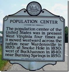 Lorentz, Upshur Co. Population Center marker