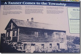 John Brown Tannery Photo from interpretative marker