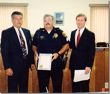 Chief Chapman, Sgt Weibel, Mayor1994