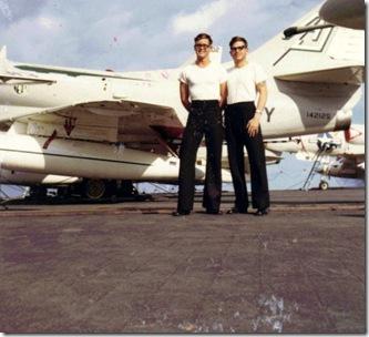 Sam & Doug Wainright USS Shangri-La1967aresize