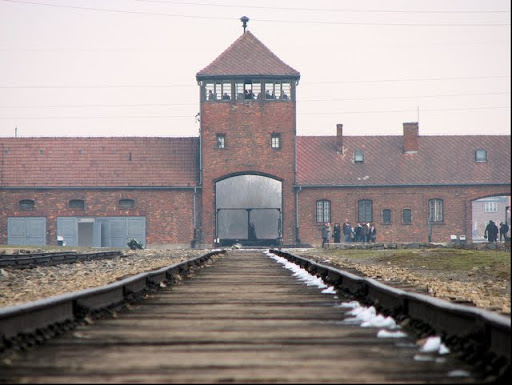 Concentration Camp Gate in Auschwitz