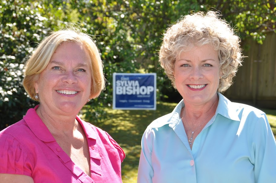 Sylvia Bishop and Beth Johnson