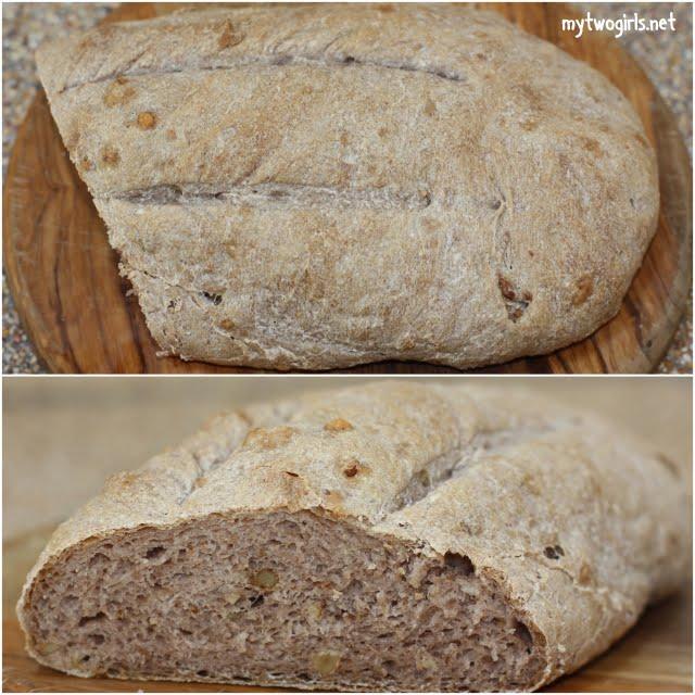 Rye walnut bread