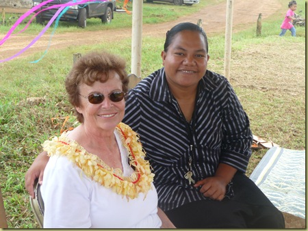 Aloine Havea, Eua Middle School Principal  and Sister Hawley