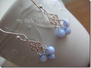 Swirly Blue Earrings2 - watermarked artfire