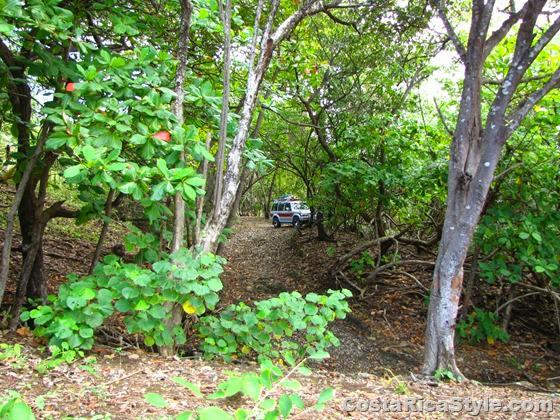 Path to secret beach in Costa Rica