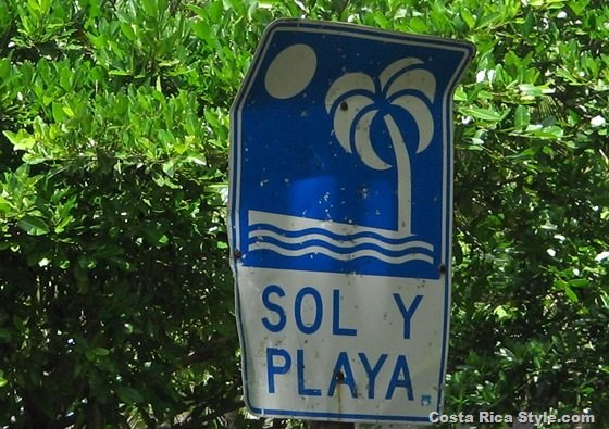 Costa Rica Sun and Beach Sign