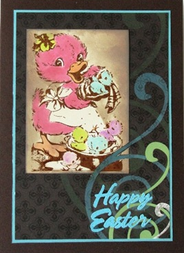 2010 04 LRoberts ATC Happy Easter Duckies Card