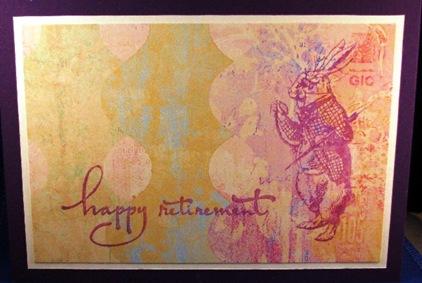 2010 04 LRoberts 30 Minute White Rabbit Retirement Card
