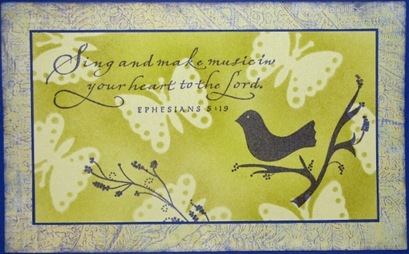 Lynn Roberts Bird Sings Masking with Dies Card