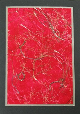 2009 12 Roberts Better Backgrounds Faux Red Handmade Paper No Embellishment