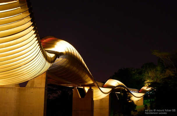 Golden Henderson Waves at Night (2), Singapore