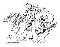 mariachi band coloring