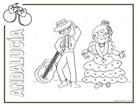 JUGARYCOLOREAR.COM- jyc - ANDAUCIA-folclore 1