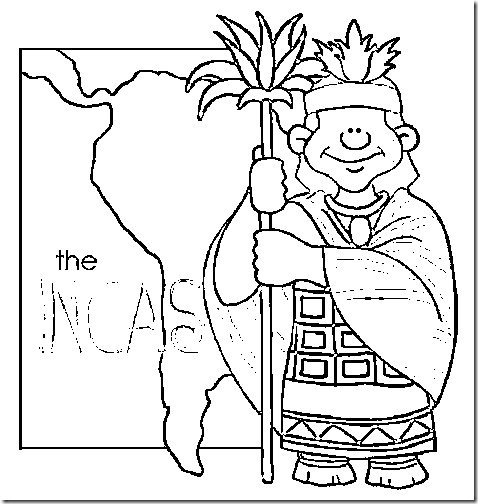 free inca coloring pages - photo#3