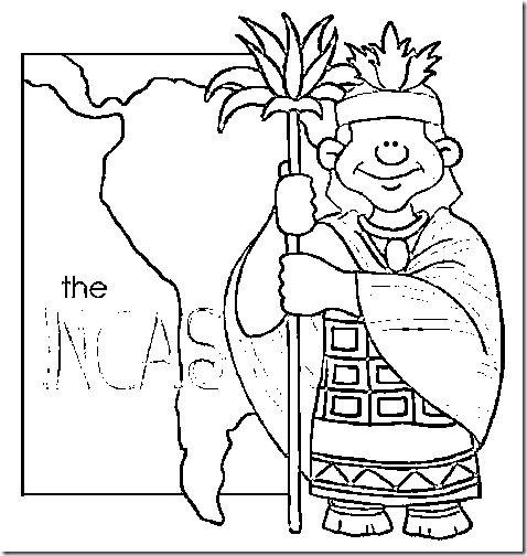 Imperio Inca para colorear - Imagui