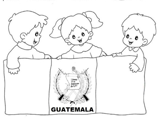 colorear guatemala