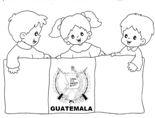 colorear guatemala