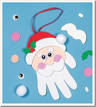 Manualidades navidad preescolar con huellas de manos - Manualidades de navidad sencillas para ninos ...