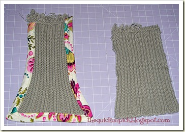 boot sleeve 'tongue'