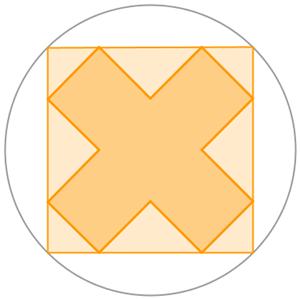 croce nel cerchio