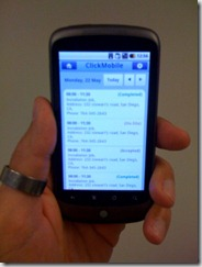 ClickMobile-Running-On-Android