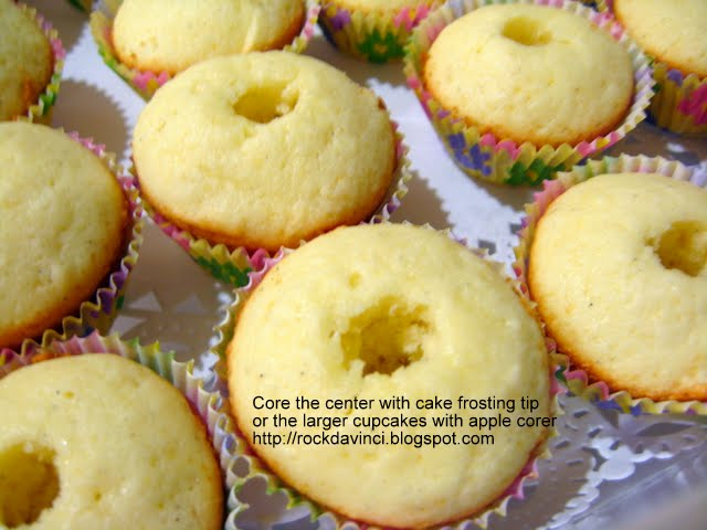 Let's Rock Like da Vinci - Cook Away!: Meyer-Lemon Curd Cupcakes