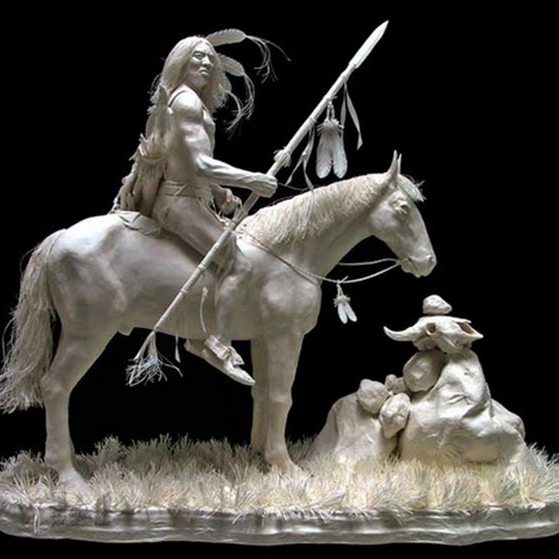 Paper Sculptures by Allen and Patty Eckman