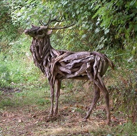 Incredible Tree Branch Horse Sculptures Amusing Planet