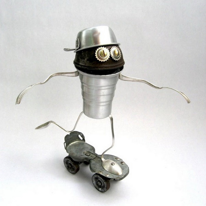 Brian Marshall's Sculptures out of Scrap Materials
