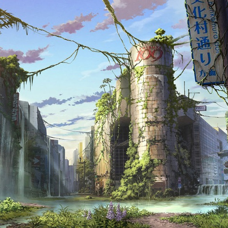 Post Apocalyptic Illustrations of Tokyo