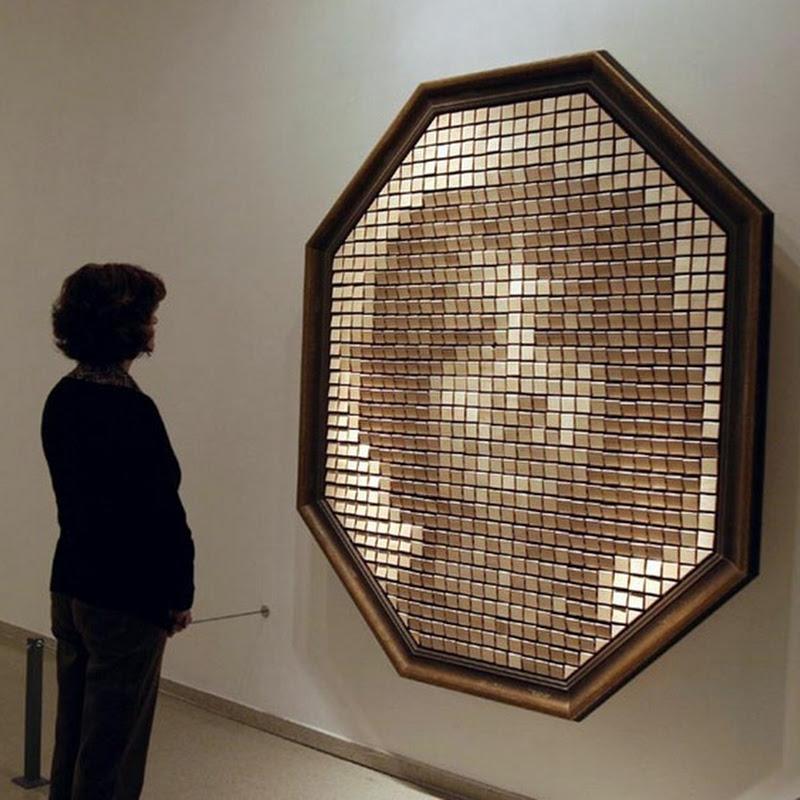 Wooden Mirrors by Daniel Rozin