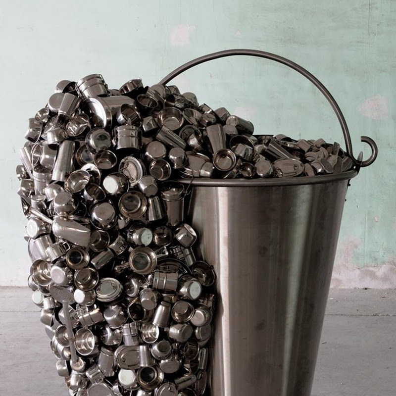 Subodh Gupta Builds Sculptures From Household Utensils
