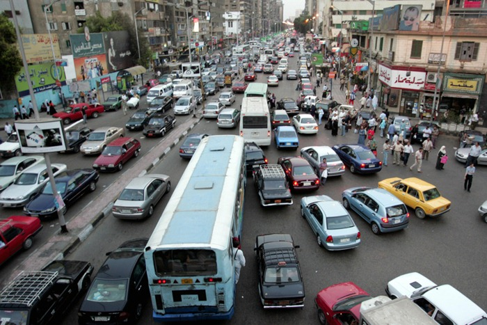 TO GO WITH AFP STORY: (FILES) A file picture dated 10 September 2007 shows cars stuck in a traffic jam in Cairo a few days before the start of the school year and beginning of the holy month of Ramadan. A permanent cacophony in Cairo, already suffering from a record high air pollution, makes the Egyptian capital one of the world's most unbearably noisy cities, according to scientific studies. AFP PHOTO/KHALED DESOUKI (Photo credit should read KHALED DESOUKI/AFP/Getty Images)
