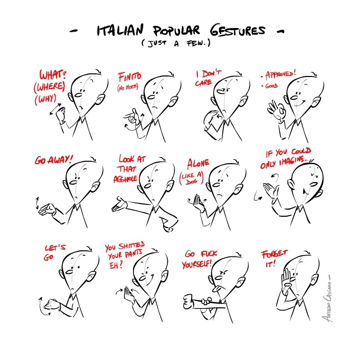 Illustrated guide to italian hand gestures