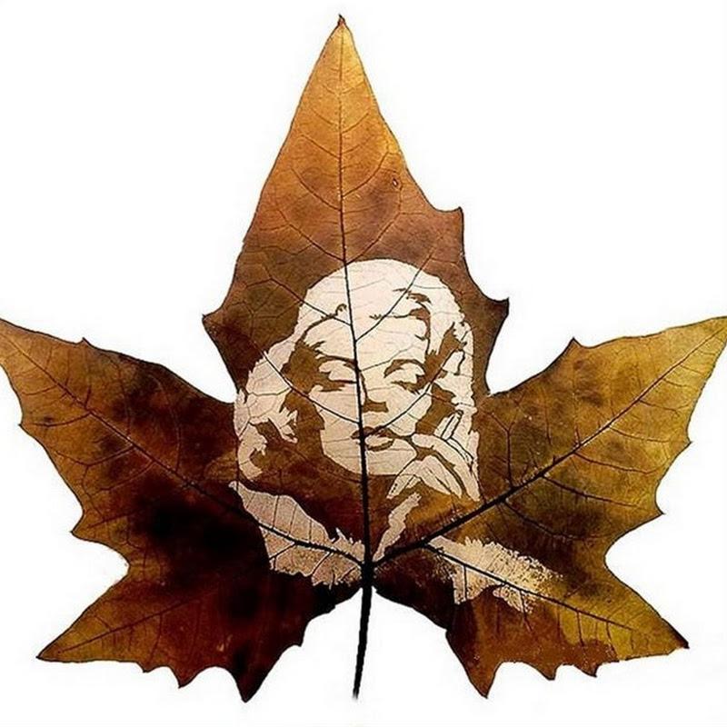 Amazing Leaf Carving Art