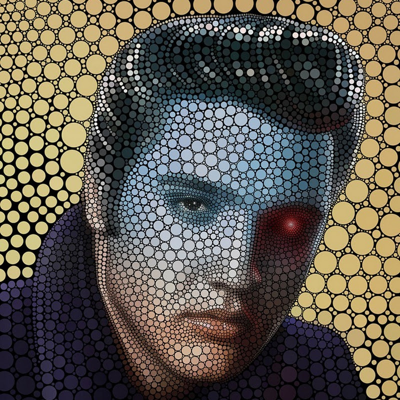 Celebrity Portraits Drawn Using Circles