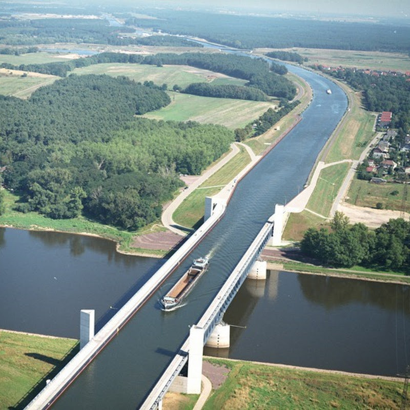 The Incredible Magdeburg Water Bridge in Germany