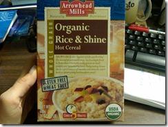 Box of Arrowhead Mills Organic Rice & Shine