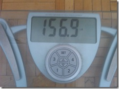 May 31 Weigh-in - 156.9lbs