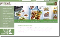 Personal Gourmet website