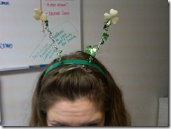 Shamrocks on my head