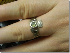 Green on my claddagh ring