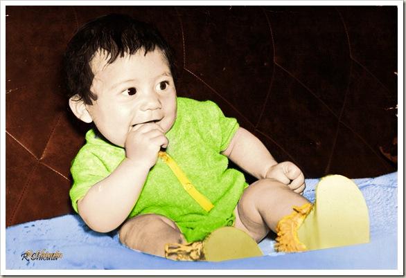 eu bebê 1 colorizada